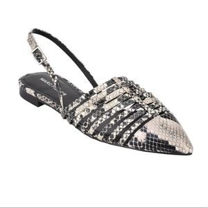 Marc Fisher Snakeskin Caged Flats